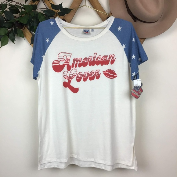 068322cfc Junk Food Clothing Tops | Nwt Junk Food American Lover Graphic ...
